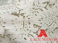 Wholesale Swiss Velvet Lace - 2017 African lace fabric high quality Nigerian tulle lace fabric for party dress African swiss velvet lace french white color 5 y