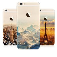 Coperchio Scenario caso Snow Mountain Glacier Ocean City per Apple iPhone 5s SE 6 6s 6plus Case Case Aurora meteora TPU per telefono