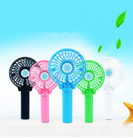 Wholesale usb rotary - Rechargeable USB Mini Portable Foldable Electric Desk Hand Held Pocket Fan Makes You Have Cool Summer