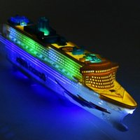 Wholesale Plastic Boats - Boat Toys Cruise Ship Model Automatic Ocean Liner with Musical Flashing Light Kids Electric Educational toy for Children Gifts