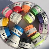 grip para raqueta de badminton al por mayor-Al por mayor- (Color surtido) ZARSIA Perfil grip apretón de tenis, apretón de la raqueta de tenis anti-alip, raqueta de bádminton sobregrip 60pcs
