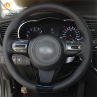 Wholesale Leather Wheel Covers For Cars - Mewant Black Artificial Leather Car Steering Wheel Cover for Kia K5 Optima 2014 2015