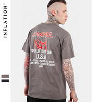 Wholesale Metal Stamping Letters - NFLATION New Style Streetwear T Shirt Fashion Short Sleeve Spring And Summer Dark Heavy Metal Iron Maiden Stamp Men's T-Shirt Short Sleeve