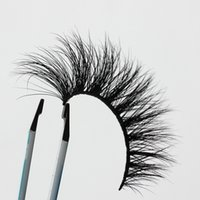 Wholesale Full Length Mink - Length 13-15mm OEM&Private Logo Acceptable Natural 3D Mink Hair Fur Eyelashes Messy Eye lash Extension Sexy Eyelash Crossing Eye Lashes EF2