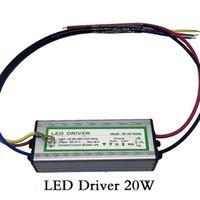 ingrosso conducente a corrente continua corrente dc-LED Driver 20W Trasformatore di illuminazione Impermeabile IP65 Ingresso AC85-265V Uscita DC 24-38 V Corrente costante 600ma Alluminio Sicuro Alta qualità