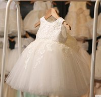 Белые перчатки для причастия для девочек Tulle Lace Toddler Pageant Flower Girl Dress for Weddings Birthday High Quality