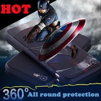 Wholesale Trends Mobile Phone Case - Latest Trend Cartoon 3D painting Relief Matte soft phone shell Iron Man mobile phone cover For iphone 7 7plus TX-5C68