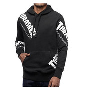 Wholesale Thick Winter Sweaters Men - Winter warm off white hoodies Letter Print Pullover Men hoodie Sweatshirt PALACE sweater