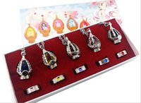 Wholesale Anime Cosplay Puella Magi Madoka Magica Soul Gem Pendant Necklace Rings jewelry set with Box Children Gift Collection Cosplay Costume