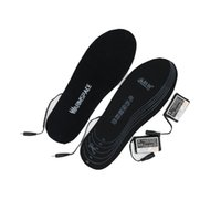 стелька обивка для обуви оптовых-Wholesale- WARMSPACE Battery Heated Insoles 3.7V 2000MAh Electric Warming Shoes Pad Heating Insole For Winter