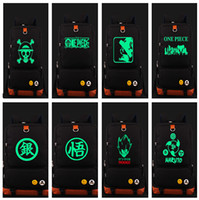 Wholesale Dragon Gift Bags - Wholesale- Luminous Dragon Ball One Piece Luffy Naruto Shoulder Backpack Glow In Dark Travel School Laptop Bag Gift