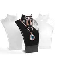pendientes maniquí al por mayor-Moda 1 Unidades 10 Unids Collar Exhibición Joyería Maniquí Titular Collar Pendiente Colgantes Estante Joyería Decoración Organizador