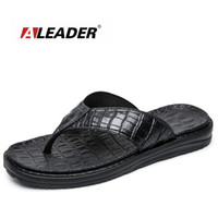 Wholesale Canvas Beach Shoes For Men - Aleader New 2017 Extremely Soft Flip Flops Men Sandals Beach Shoes For Men High Quality Eva Men Summer Slippers Massage Shoes