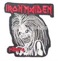 Wholesale Iron Maiden Free Shipping - Iron Maiden Killers Fashion Embroidered Iron On Sew On Patch Rock Band COSTUME PATCH EMBLEM, Free shipping