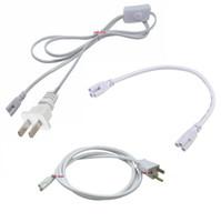 кабельные разъемы оптовых-T5 T8 соединительный кабель 2ft 3ft 4ft 5ft 6ft удлинитель переключатель для интегрированной светодиодные трубки кабель питания с США Plug