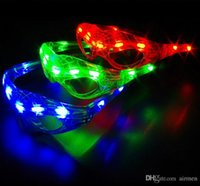 Wholesale Birthday Plastic Glasses - LED Spiderman Glasses Flashing Glasses Light Party Glow Mask Christmas Halloween Night Light for Dancing Birthday costume ball Kids gift
