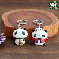 Wholesale Dragonfly Wind - Full court 10 pieces of mail, Sichuan panda souvenir, resin panda key buckle, Chinese wind, Chengdu souvenir small gift