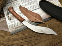 Wholesale Knife Hunting Survival Bowie - FREE SHIPPING New Nepal mini machete Full Tang Survival Kukri Machete Bowie Knife VTH88 fox