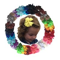 Wholesale Toddler Claw Hair Clips - 48Pcs girls hair bows alligator clips headbands for baby girls kids teens toddlers CH IR leaders A066-5
