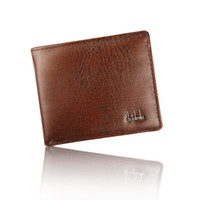 50pcs Vintage Square Mens Carteiras Bifold Brown Preto PU Leather Open Nota Compartimento Compartimento Interior Photo Holder Titular