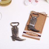 Wholesale Wholesale Wine Openers Wedding - Retro Boots Chrome Bottle Opener Beer Openers Wedding Favors Supplies Wine Favor Christmas Party Gift New