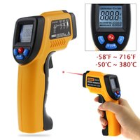 Wholesale Digital Lcd Display Infrared Thermometer - Infrared Thermometer Non-Contact Laser LCD Display IR Infrared Digital Pyrometer laser Outdoor thermometer Gun For Industry Home Use +NB