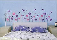 Wholesale Sunflower Removable Wall Decals - PVC 14 small sunflowers hallway window stickers 9 colors options flowers stickers Room Decorative flower wall decal wall vinyls