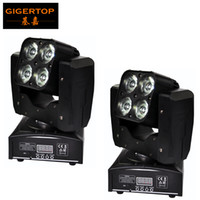 TIPTOP 2XLOT 4 X 15W Mini Stage Led Moving Head Strahl Licht 14/21 DMX Kanäle RGBW 4IN1 Farbe Low Noise Cooling Fan Mini Größe 100V-220V
