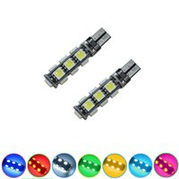 Wholesale Smd Canbus 13 - LEEWA Car T10 194 168 Wedge 13-SMD 5050 LED Light CANBUS No Error Bulb 7-Color #3669
