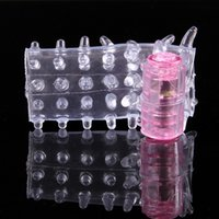 Wholesale Wholesale Vibrator Sleeve - 500pcs lot Wholesale Caterpillar Cock Vibrating Penis Sleeve Ring Cockring Vibrator Rings Men Sex Adult Aid Toys