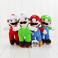 Wholesale Cheap Stuff For Kids - Cheap price 4Style 25cm Super Mario Bros Fire Mario Luigi Stuffed Plush Dolls Mushroom Toys Dolls For Girls Kids Gifts