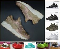 Hot Sale Air Huarache sapatos de corrida Rose Gold High Quality Mens Womens Sneakers Huaraches Olivew Army Green PRM Black White Trainers
