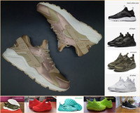 Wholesale Womens Gold Low Shoes - Hot Sale Air Huarache Running Shoes Rose Gold High Quality Mens Womens Sneakers Huaraches Olivew Army Green PRM Black White Trainers