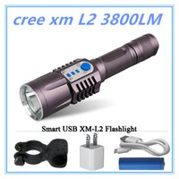 Rechargeable USB led lanterna cree xm l2 Lanterna High Power Torch 3800 lúmen lanterna lanterna Tactical bike light use18650