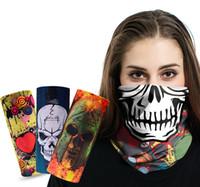 Wholesale Lycra Sports Headbands - Fashion Scarf Headband Multifunctional Outdoor Sports Seamless Bandanas Facemask Headwear Scarf Magic Headband Neck Tube Ring Shawl Wrap