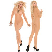 Wholesale Long Sleeves Bodystocking - Wholesale- FGirl Body Jumpsuits Woman Foxy Babe Long Sleeve Bodystocking Bodycon Jumpsuit Women Rompers FG10712