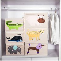 Fabric space box storage - Cloth Incorporated Box Cartoon Fold Storage Square Big Boxes Various Styles Household Useful Non Occupying Space Multicolor Select pj I1