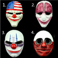 pvc scary clown mask payday 2 halloween mask for antifaz party mascara carnaval on sale