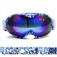 Wholesale Double Lens Snowboard Ski Goggles - Wholesale- Eyewear Snow Snowboarding Glasses snow UV- Protection Multi-Color  double anti-fog lens Snowboard Ski Goggle