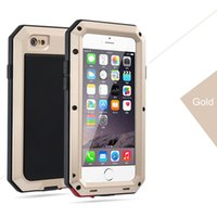 Wholesale Iphone Weatherproof - 10pcs Powerful Metal alloy Shockproof Phone Cases For Apple iPhone6 6plus 7 7 plus Phone Weatherproof Case Cover