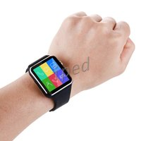 Wholesale Cheapest Mobile Watches - Cheapest Curved Screen X6 Bluetooth Smart Watch Bracelet Phone With SIM TF Card Slot With Camera For iphone Samsung Android Mobile Phone