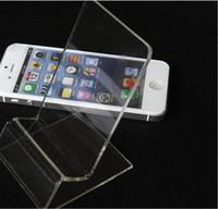 mobiltelefone displayhalter stehen großhandel-Universeller allgemeiner klarer transparenter Acryleinfassungs-Halter-Ausstellungsstand gezeigt für iphone Samsung-Handy