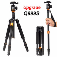 Wholesale tripod camera professional online - New Upgrade Q999S Professional Photography Portable Aluminum Ball Head Tripod To Monopod For Canon Nikon Sony DSLR Camera MOQ