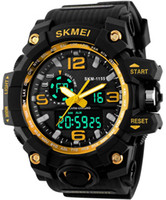Wholesale Mens Waterproof Swimming Watches - 2017 Summer Outdoor Sports Watches LED Digital Wristwatches S Shock Classic Waterproof Mens Fitness Swimming Running Popular Black Big Face