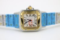 Wholesale Gold Watches Straps - AAA high quality luxury 24mm ladies sports quartz watch stainless steel strap gold dial 60 Free Shipping