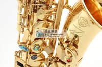 Wholesale Selmer Reference - 2017 New free shipping France Henri selmer saxophone alto profissional Reference 54 electrophoresis gold Abalone buckle