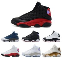Wholesale Gold Lace Fabrics - High Quality Retro 13 Bred Chicago Flints Men Women Basketball Shoes 13s DMP Grey Toe History Of Flight All Star Sneakers With Box