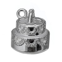 Wholesale Cake Plate Handles - Antique Silver Gold Plated Lucky Small Star & Birthday Cake & Umbrella Handle Charm Zinc Alloy Charms for DIY Jewelry Making 100PCS A Lot