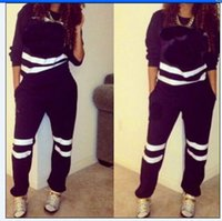 Wholesale Baseball Crop Top - New Fashion Women's Sport Suit Letter Pink Print Tracksuit Long-sleeve Casual Sport Costumes Mujer Crop Top And Pants Set