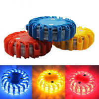 Wholesale super bright led strobe - Super Bright Auto 16 LED Round Beacon Emergency Strobe Flashing Warning Lights Round Car Roof Light bar Road Safety Light